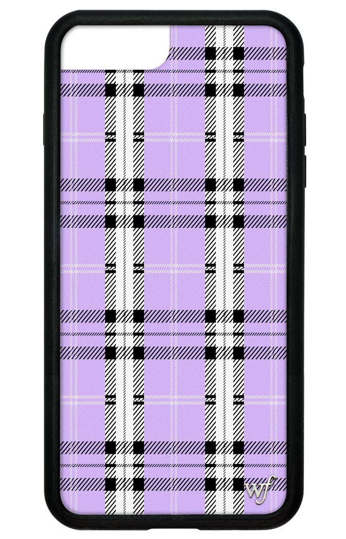 Wildflower Limited Edition iPhone Case for iPhone 6 Plus, 7 Plus, or 8 Plus  (Lavender Plaid).