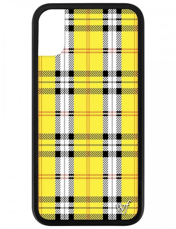 Yellow Plaid iPhone X/XS case.
