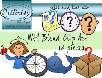 WH Blend Phonics Clip Art Set.
