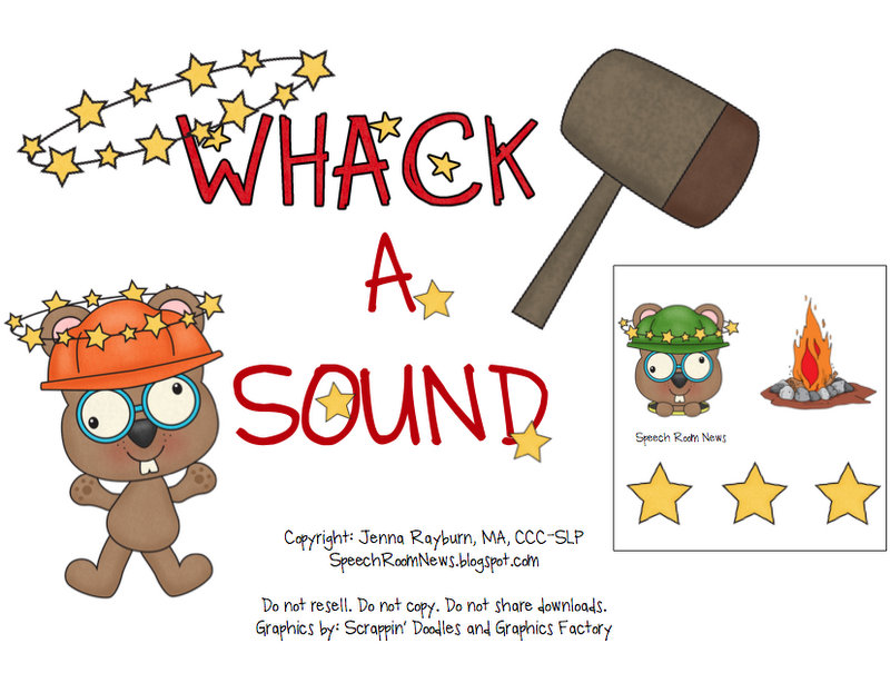 Whack a Sound: K,G,F, S {Freebie Included!).