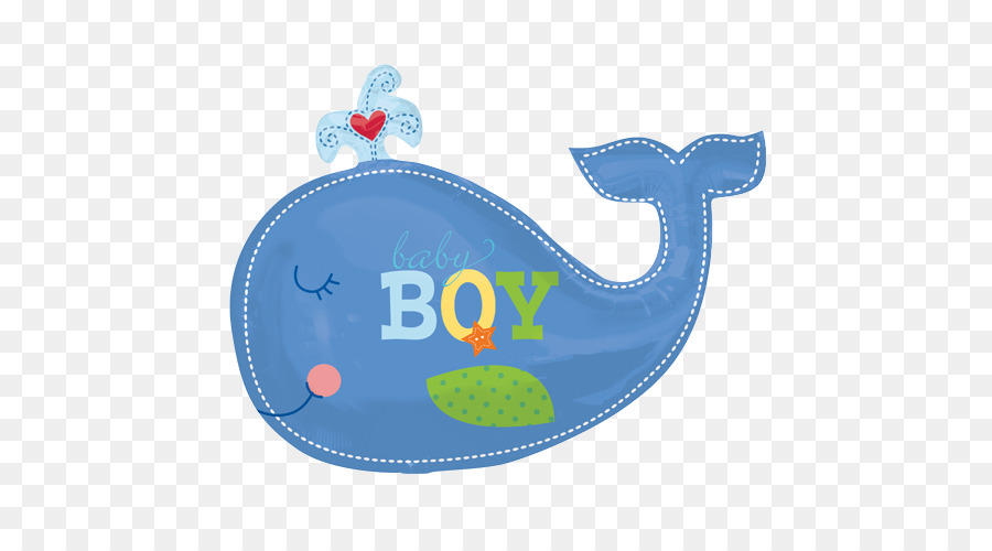 Blue whale Baby shower Clip art.