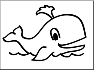 Whale clipart black and white 1 » Clipart Portal.