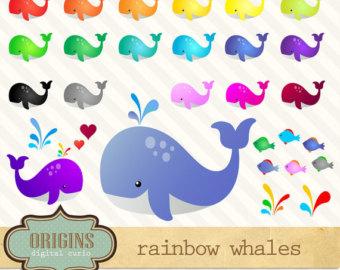 Whale clip art.
