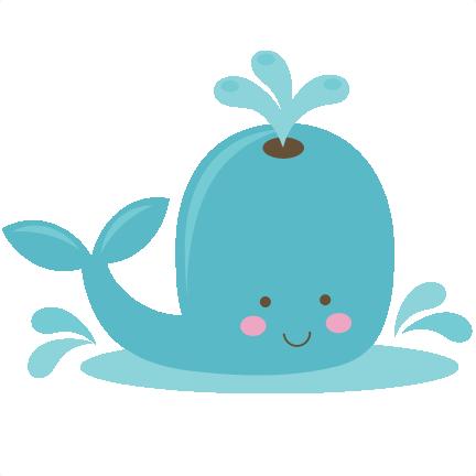 Cute Whale Clip Art.