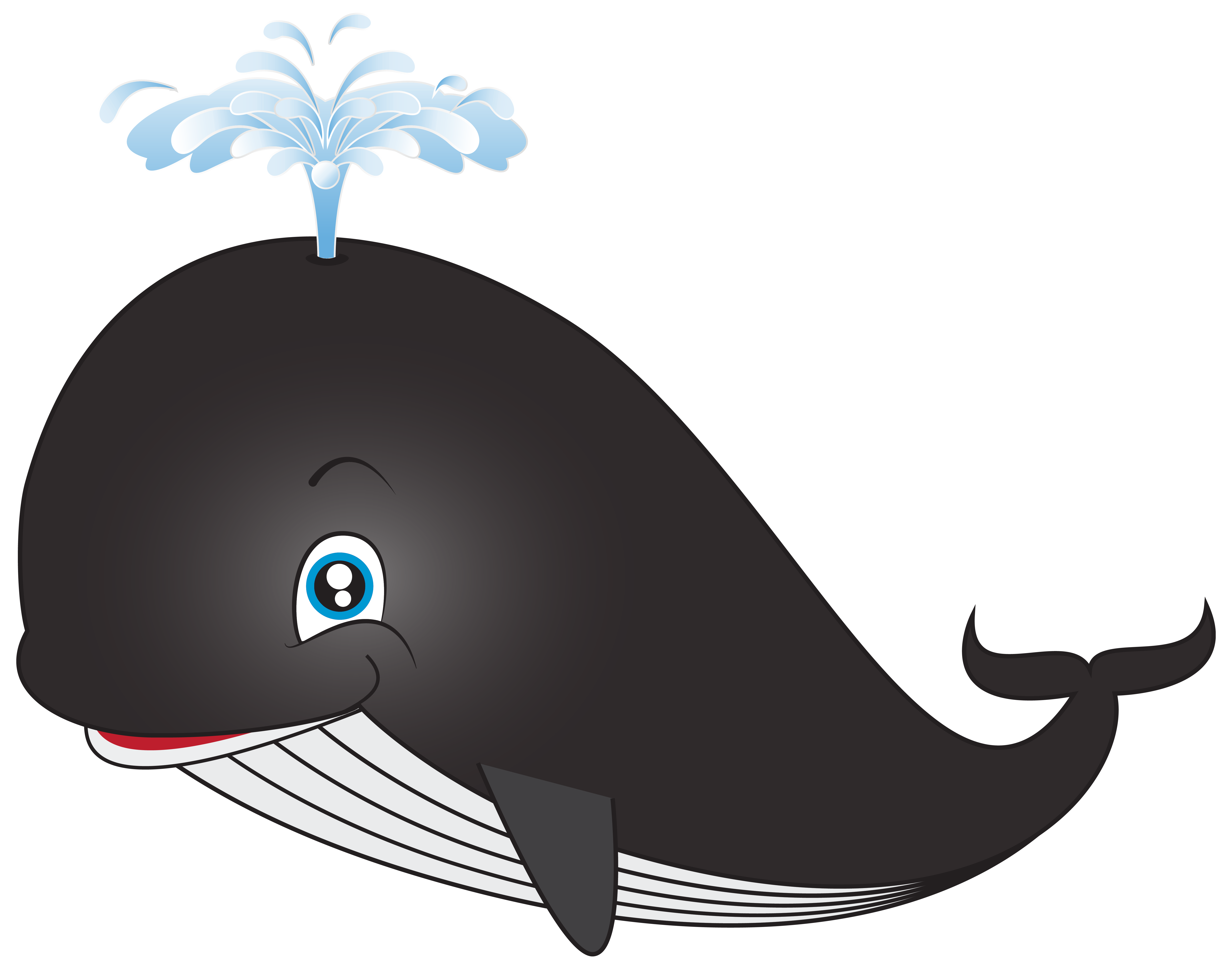 Whale Cartoon PNG Clip.