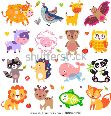 Vector Illustration Cute Animals Birds Quail Stock Vector.