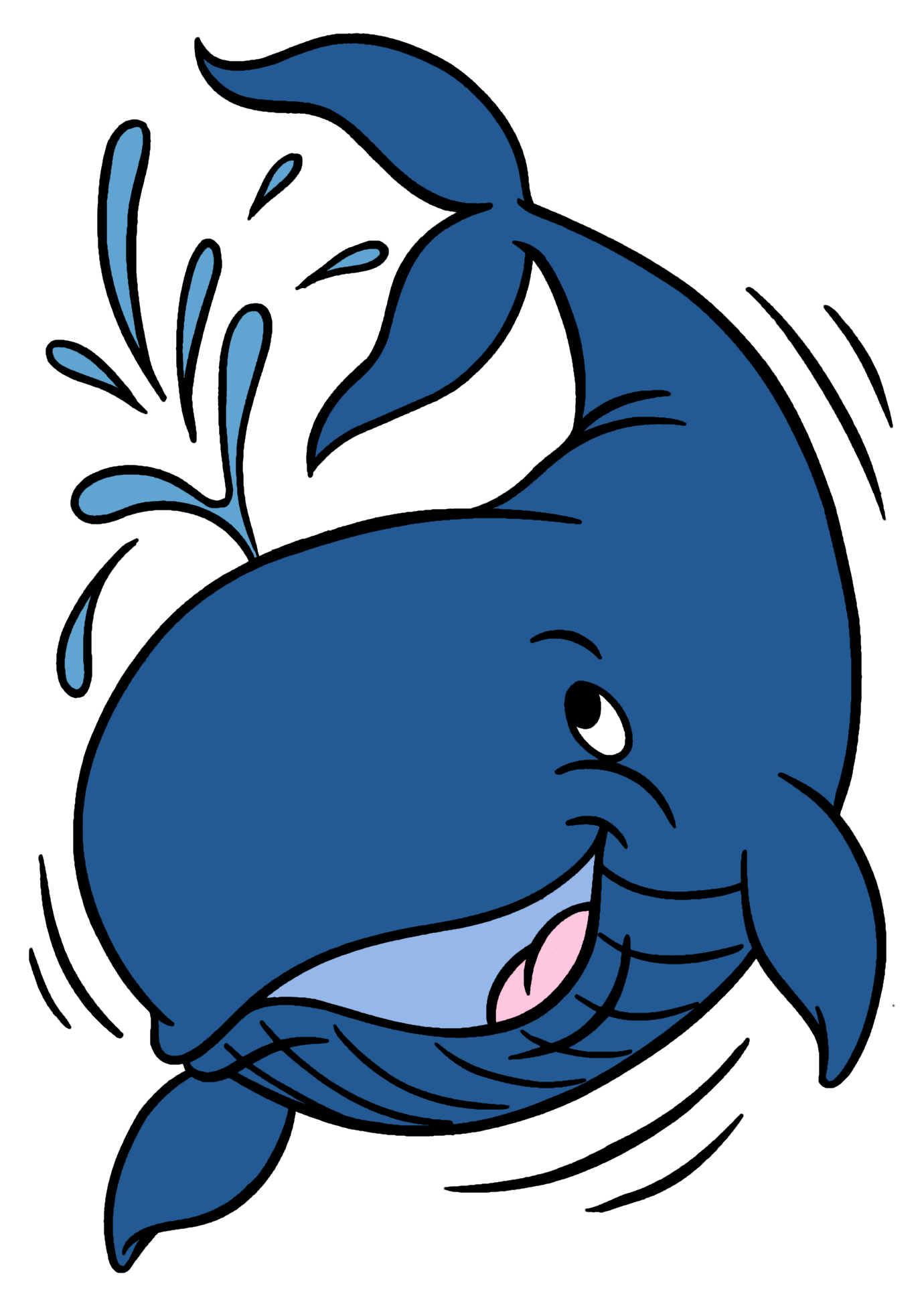 Whale clipart.