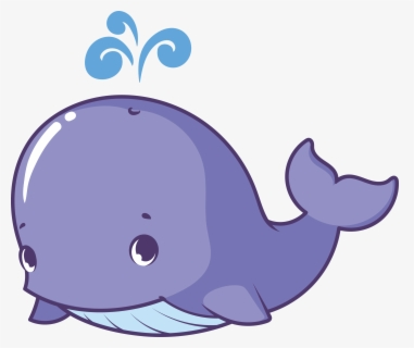 Free Baby Whale Clip Art with No Background.
