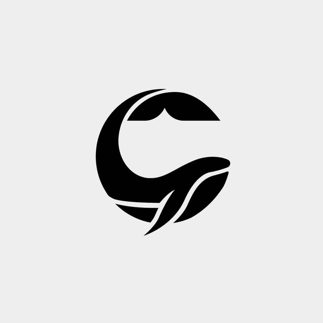 Blue whale logo • • #logos #logomark #logorack #logoup_.
