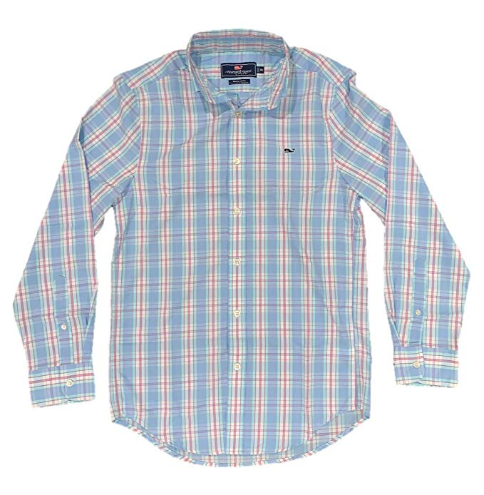 Vineyard Vines Men\'s Long Sleeve Button Down Whale Shirt Oxford.