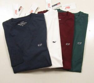 Details about Vineyard Vines Men\'s Long Sleeve Embroidered Whale Logo  Crew.