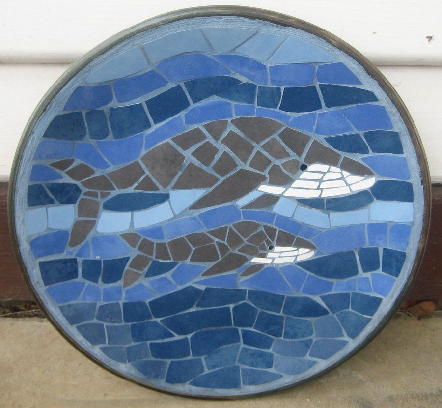 Mosaic Whale and Baby.