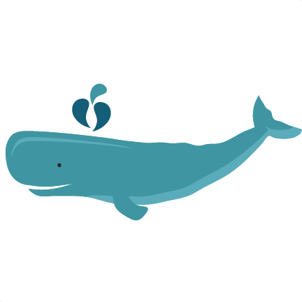 Whale SVG scrapbook cut file cute clipart files for silhouette.