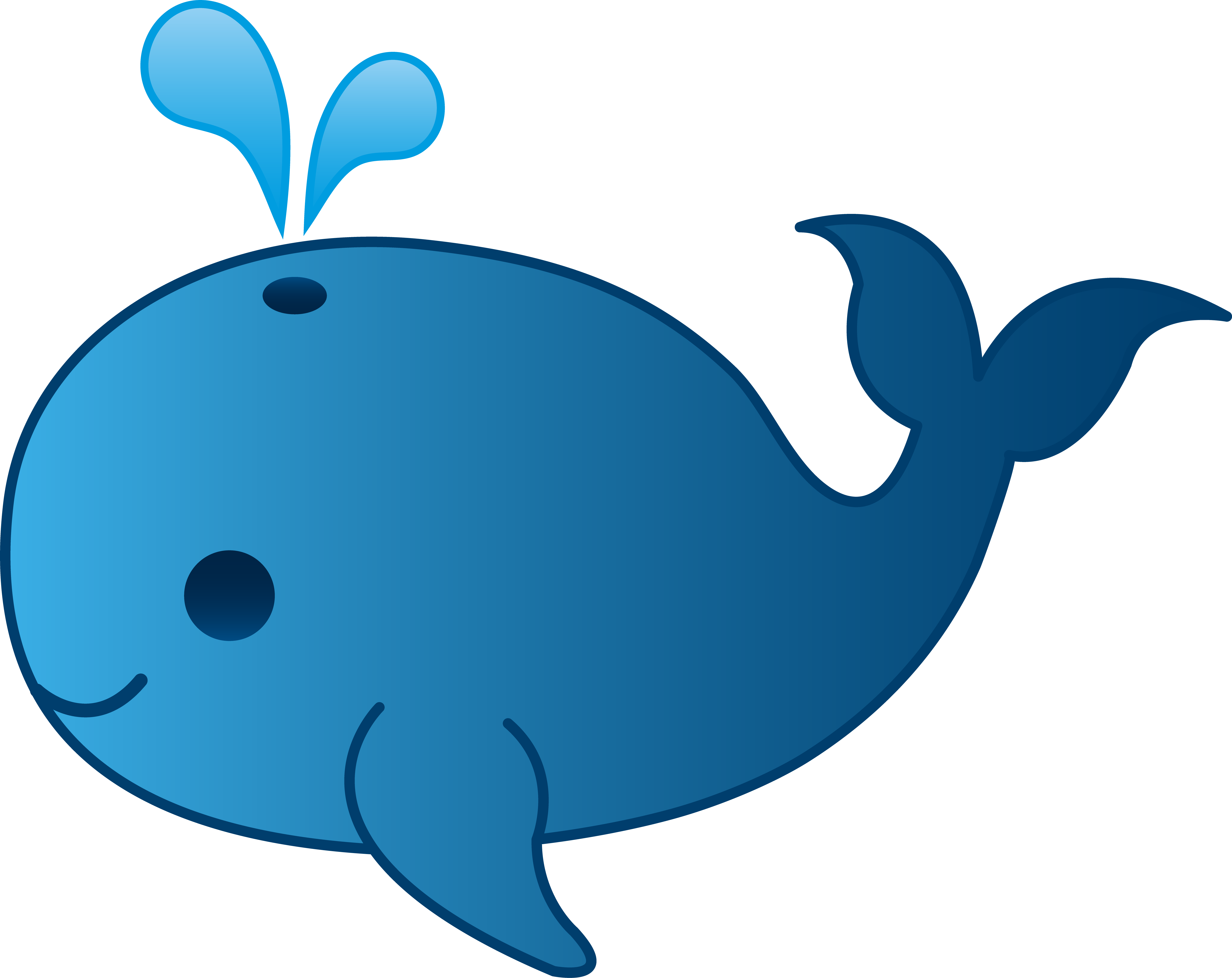Simple whale clipart 3 » Clipart Station.