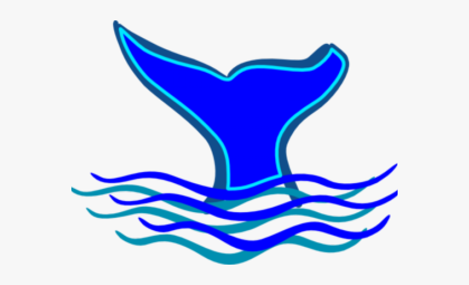 Blue Whale Clipart Tail.