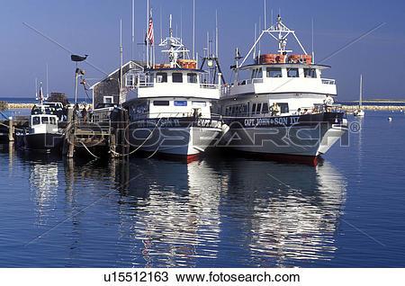 Stock Photo of whale watching, boats, Plymouth, Massachusetts, MA.