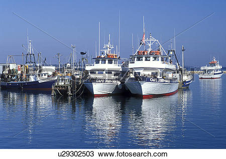 Stock Photo of boats, Plymouth, MA, Massachusetts, View of Captain.