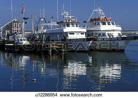 Stock Photo of boats, Plymouth, Massachusetts, MA, View of Captain.