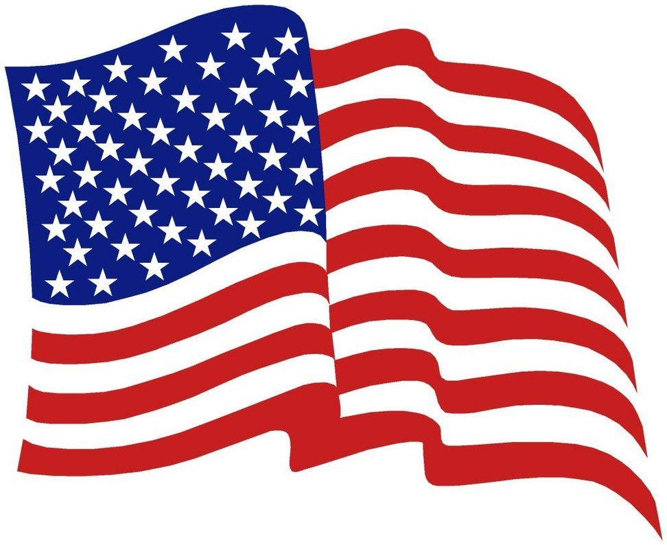Beach Clipart With American Flag.