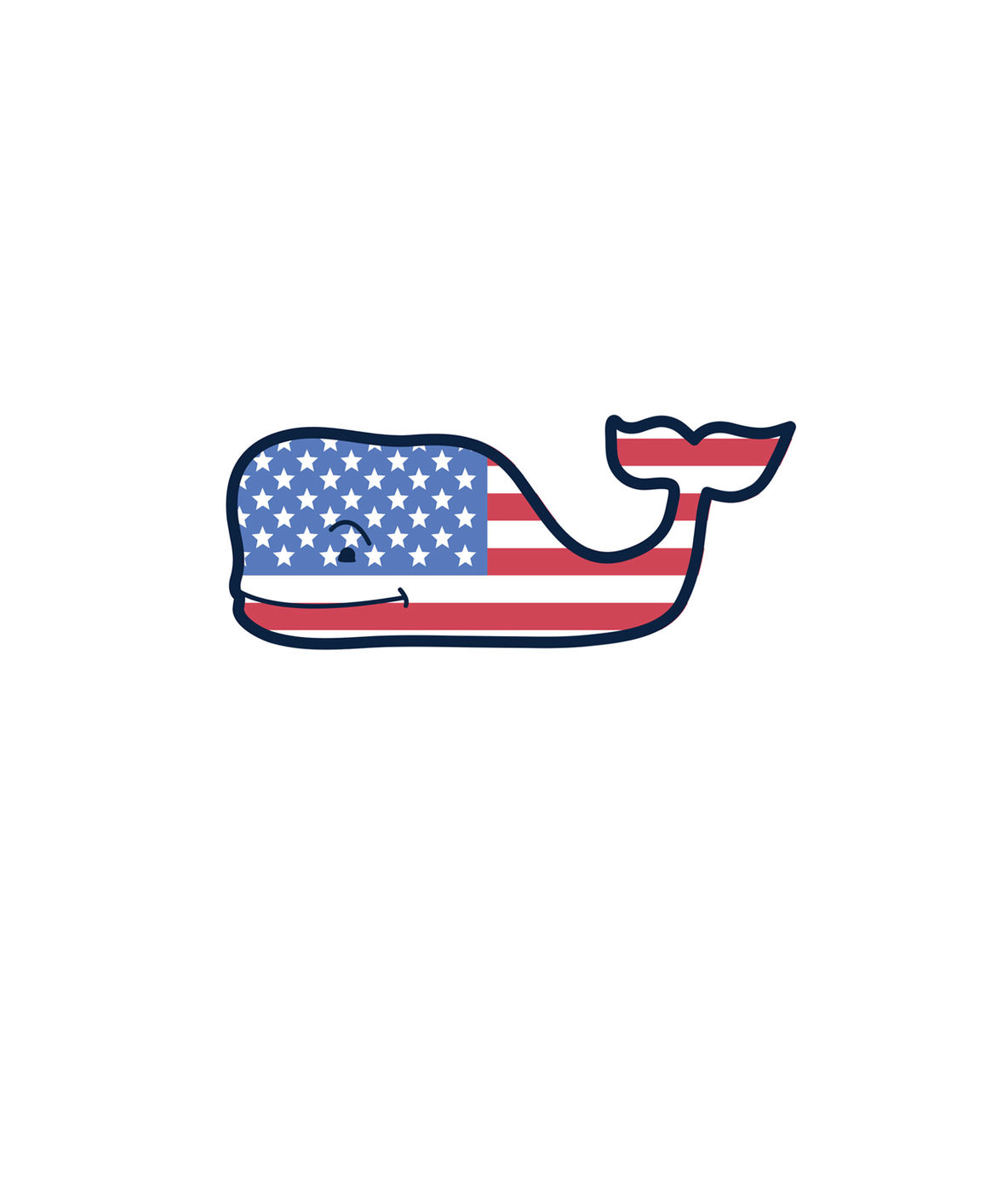 Shop USA Flag Whale Magnet at vineyard vines.
