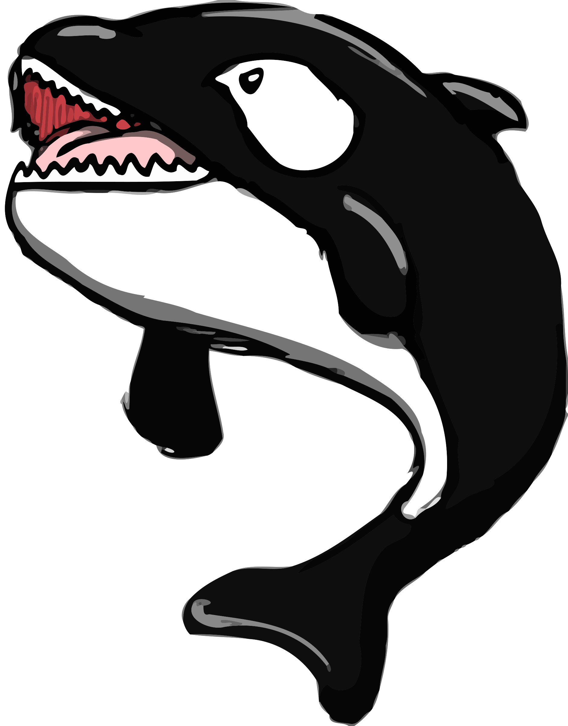 Whale Open Mouth Clipart.