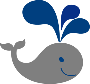 whale cutout, paste onto tablecloths.