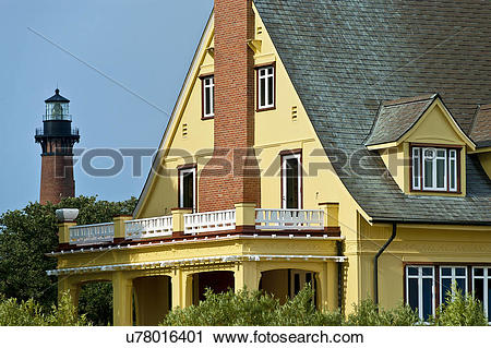 Stock Photography of USA, North Carolina, Corolla. The historic.