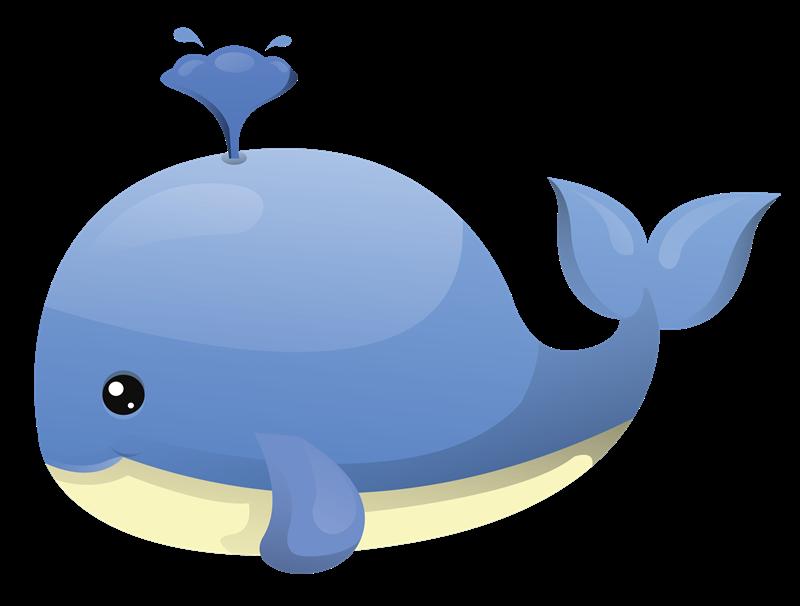 Cartoon whale clipart.