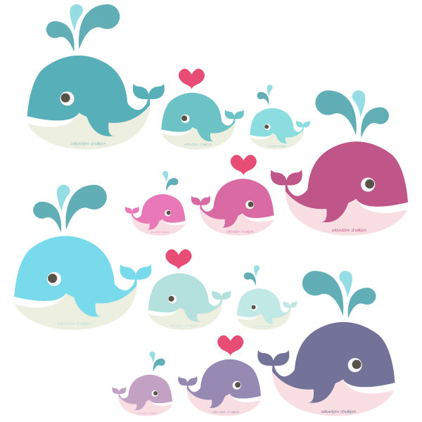 Whales clipart #20