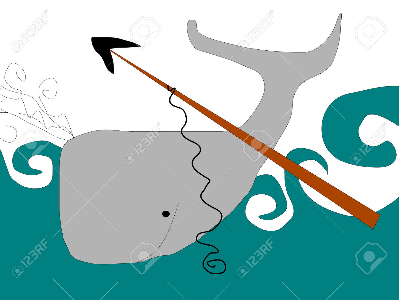 Simple Sketch Of Whaling Royalty Free Cliparts, Vectors, And Stock.