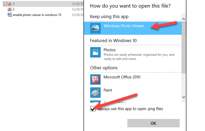 How to Enable Windows Photo Viewer in Windows 10.