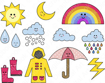 Things We Use In Rainy Season Clipart.
