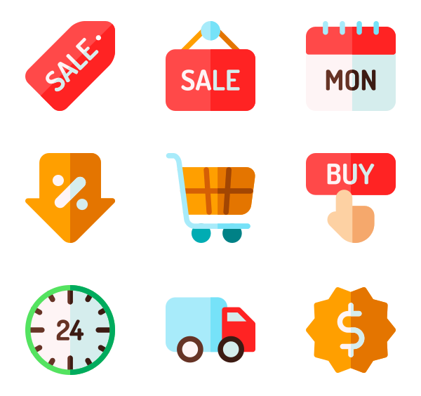 Free vector icons.