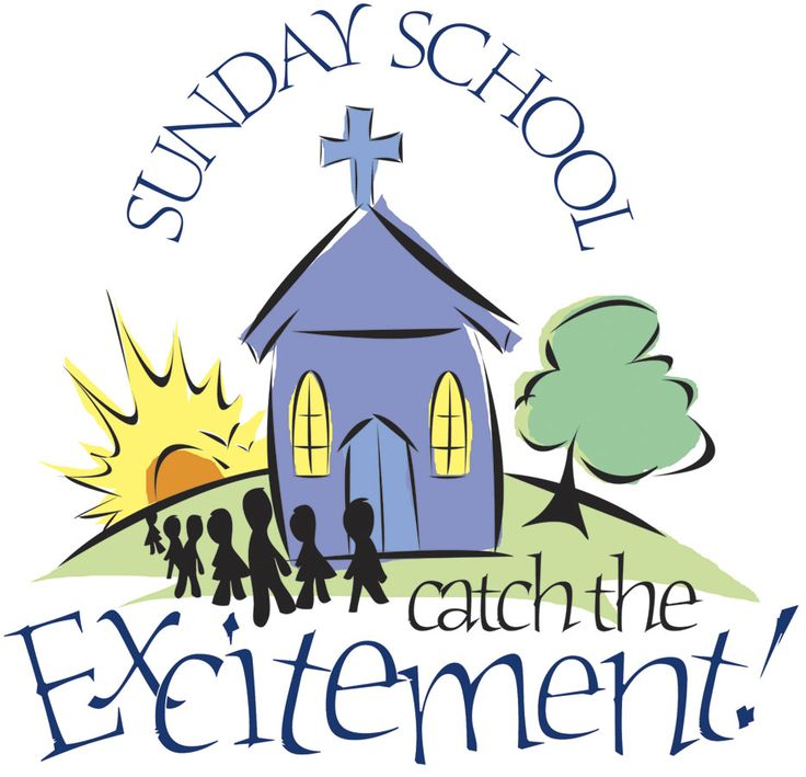 Sunday school begins clipart.
