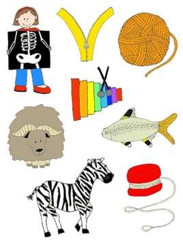 It Begins with X, Y, or Z: Clip Art for X, Y, Z and the Sounds They Make!.