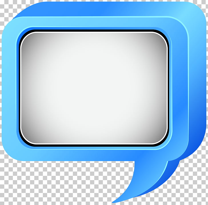 Icon Text Display device Multimedia, Bubble Speech Blue PNG.