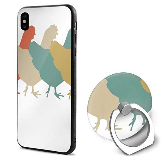 Amazon.com: Chickens Clipart iPhone X Case Soft TPU.