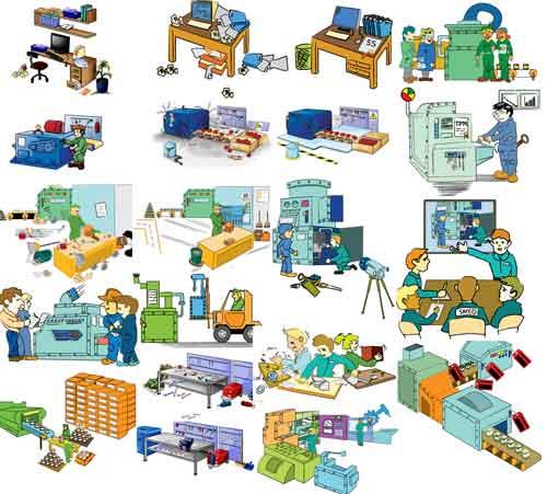 Lean Manufacturing Clipart.