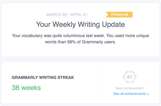 Common questions about weekly Grammarly Insights reports.