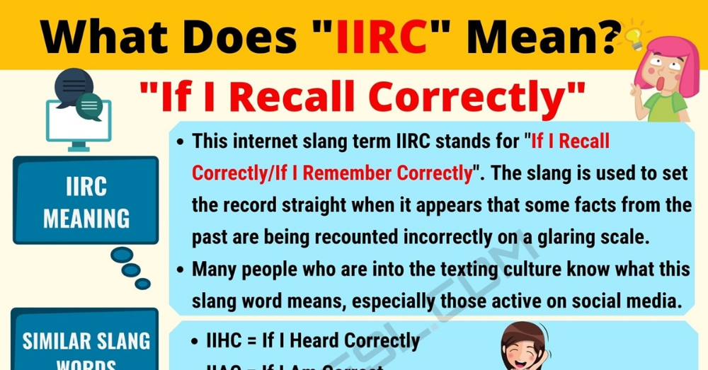 IIRC Meaning: What Does IIRC Mean? Useful Text Conversations.