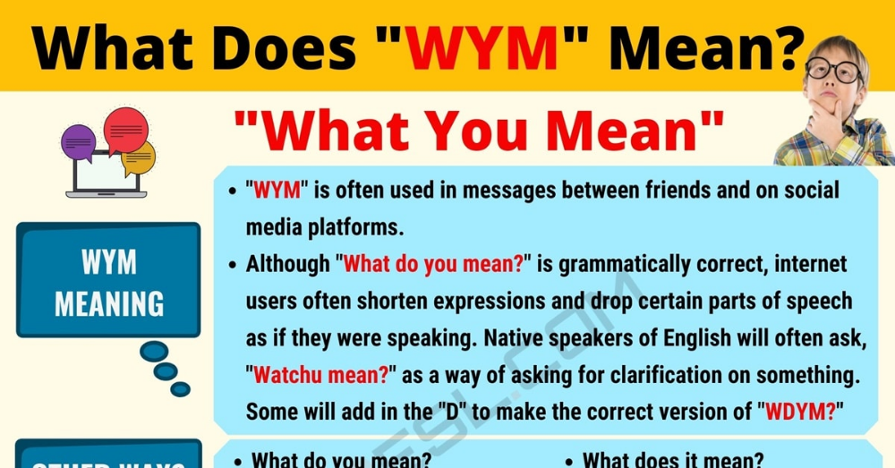 WYM Meaning: What Does WYM Mean? Useful Text Conversations.