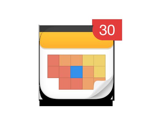 Calendars 5.1 brings easier task creation and a date badge.