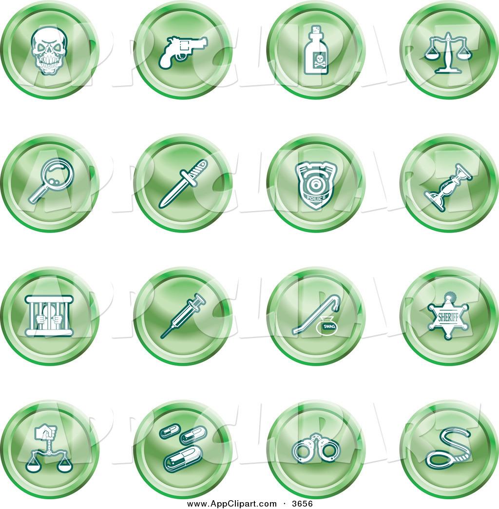 Royalty Free Police Badge Stock App Designs.