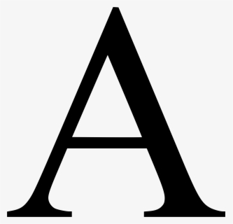 Free A Letter Clip Art with No Background.