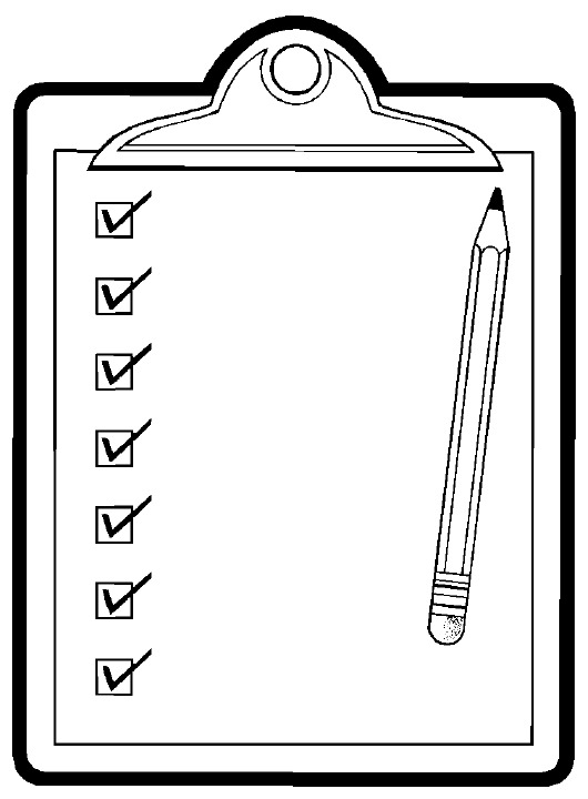 Checklist clipart black and white letters format jpg.