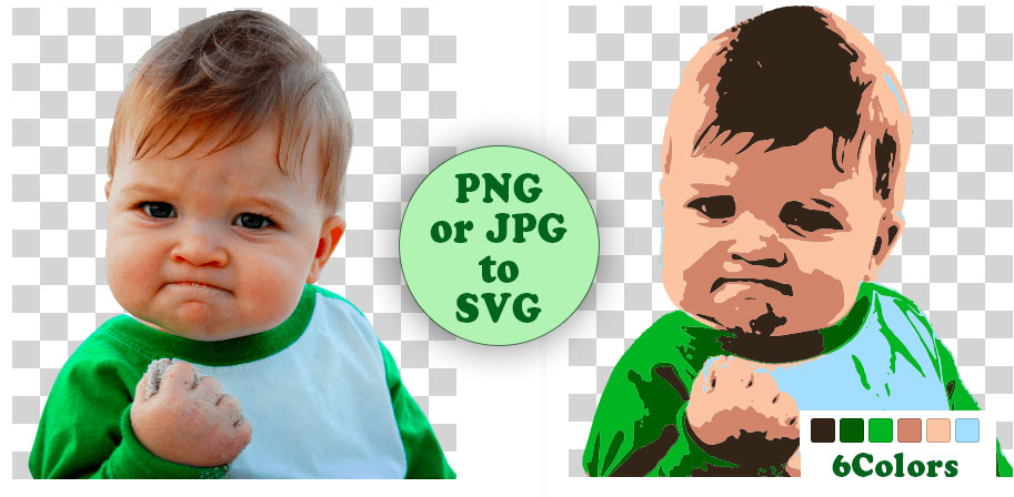PNG or JPG to SVG.