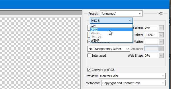 How to convert PNG to JPG without losing quality.