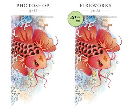 Fireworks vs Photoshop Compression.