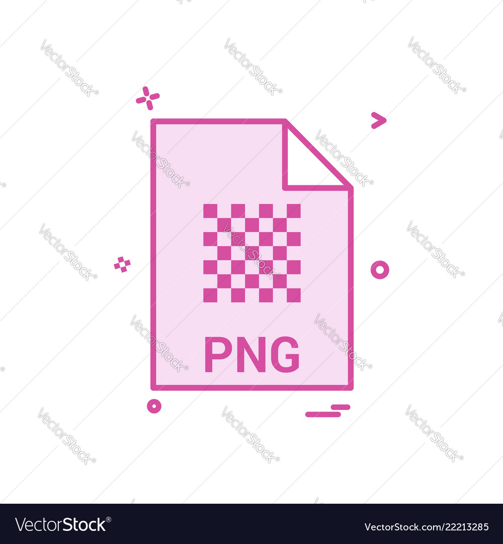 Png file file extension file format icon design vector image on VectorStock.