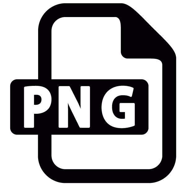 PNG File Format Vector Icon.